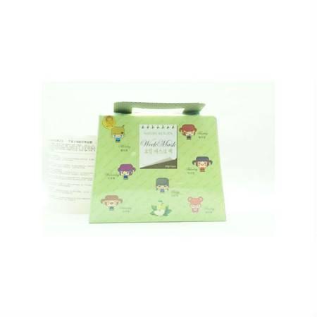 专柜正品 自然乐园 苹果干细胞星期面膜7片/盒