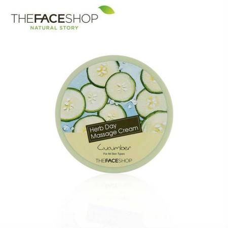 专柜正品 The Face Shop 卸妆霜 草本日记黄瓜按摩霜 150g