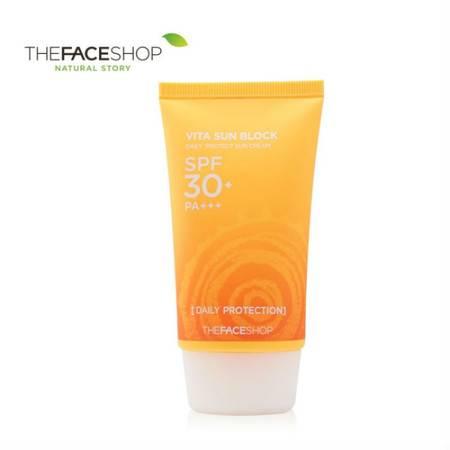 专柜正品 The Face Shop日间倍护防晒乳SPF30+ 50g