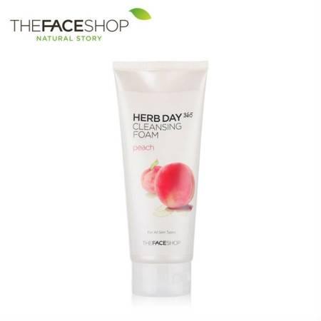 专柜正品 The Face Shop 草本水蜜桃泡沫洁面膏 170g