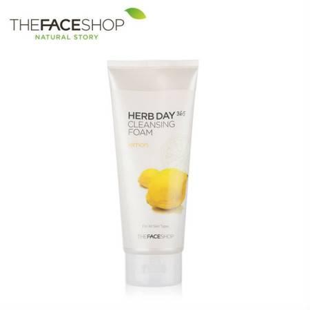 专柜正品 The Face Shop 草本柠檬泡沫洁面乳 170g