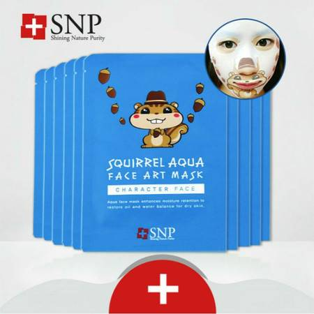 韩国专柜正品 SNP俏松鼠动物面膜10片