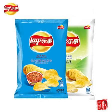 乐事薯片香浓红烩味45g*16包+黄瓜45g*16包