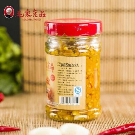 湖南特产毛家食品汤妈妈贡菜黄椒 1000g*6