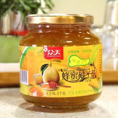 新品上市众天蜂蜜茶柚子果茶蜂蜜柚子茶1000g