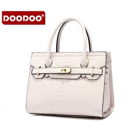 doodoo包包2016新款铂金包欧美时尚手提包蛇纹女士单肩斜挎女包D6027