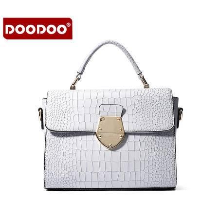 doodoo包包2016夏季新款日韩潮时尚女包手提斜挎简约单肩百搭小包 D6011
