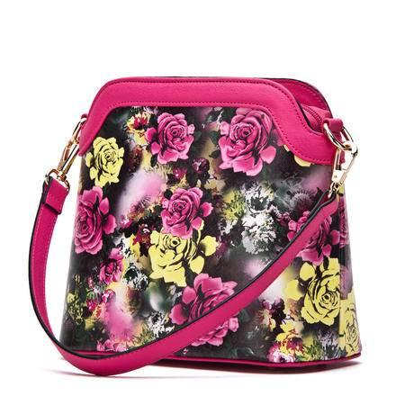 doodoo2016新款时尚女包单肩手提贝壳包印花斜挎女士小包包春季潮D5045