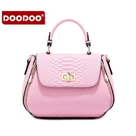 doodoo包包2016新款斜挎包 日韩时尚单肩包夏季小包蛇纹手提女包D6052