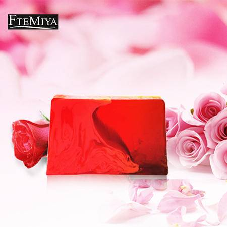 梵米雅红色玫瑰手工精油皂