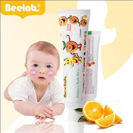 新西兰进口可吞食咽无氟防蛀宝宝幼儿小孩牙膏 碧罗兰婴童牙膏40g(香橙味)