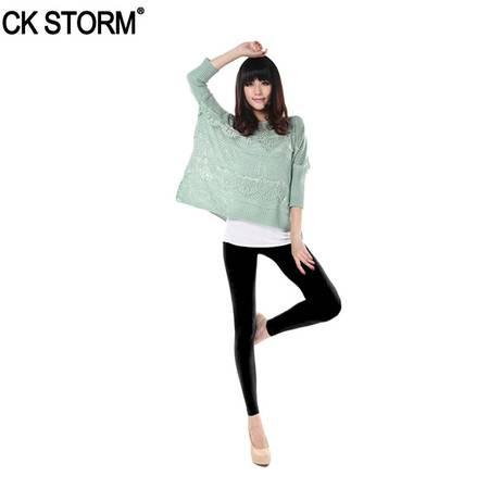 CK STORM 200D打底裤 秋冬新款 女士显瘦保暖打底裤 九分裤