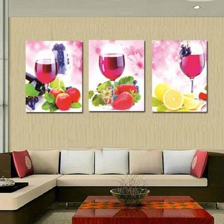 5D钻石画新款客厅卧室房间画红酒杯餐厅水果满钻葡萄美酒钻石绣