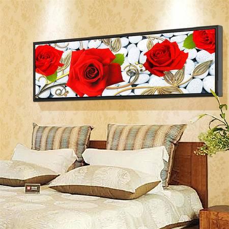 魔方5d钻石画怒放的玫瑰客厅钻石十字绣贴钻砖石画圆钻钻石绣