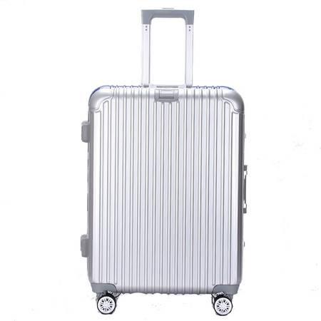 迪阿伦2016新款铝框拉杆箱硬箱小凸框旅行箱万向轮箱子26寸杯架款行李箱