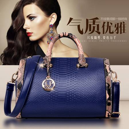 迪阿伦新款蛇纹女士包包欧美时尚女包单肩包优雅手提包女