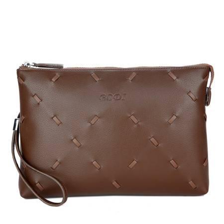 迪阿伦新款男士牛皮信封包时尚商务手拿包平板包皮包