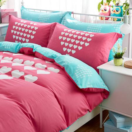 奥康/OUKK 纯棉四件套全棉简约床上用品1.5被子4件套1.8m2.0m床双人床单被套
