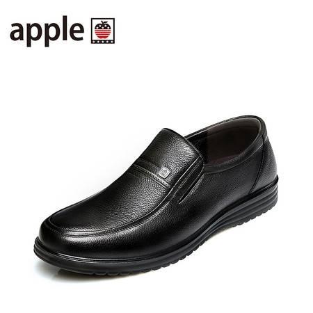 苹果男鞋  秋季头层牛皮正品皮鞋男软底正装大码商务男士休闲鞋子