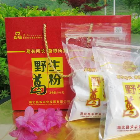 昌禾30年葛根粉野生天然健康无糖正品红色礼盒装800g包邮