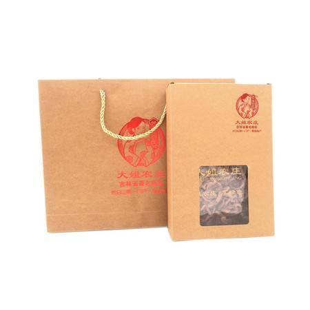 大姐农庄 大姐农庄东北野生红蘑菇松蘑肉蘑松树伞精选切片去根食用菌特产通用礼品盒200g*2盒包邮