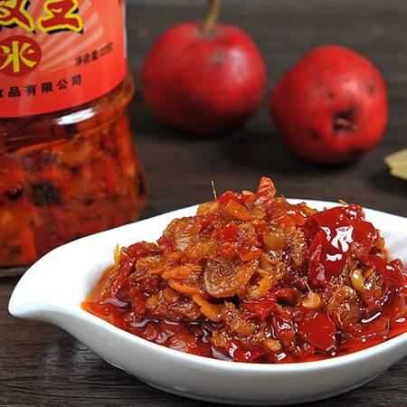 晶翔JINGXIANG 安徽古运漕特产 辣椒酱 虾米红椒王 220g/瓶 拌面/拌饭 调味料 辣酱
