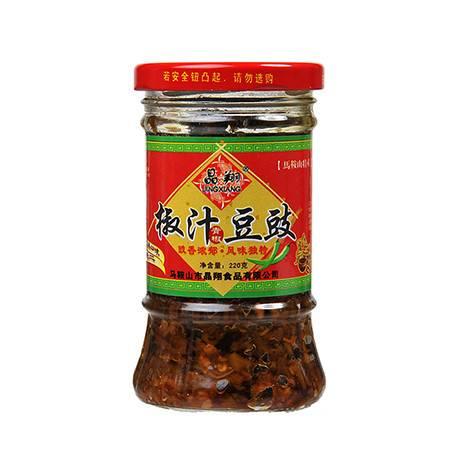 晶翔JINGXIANG 椒汁豆豉酱 220g/瓶 安徽古运漕特产 辣椒酱 调味料 辣酱 拌面/拌饭