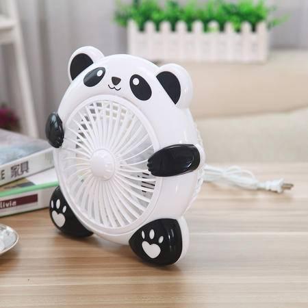新款小熊猫电风扇台扇转页扇卡通扇学生宿舍迷你风扇 SL-204