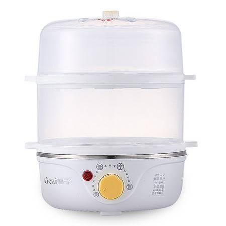 格子迷你电蒸宝 电蒸锅 双层调温式 厂家直销 礼品定制GZ-Z01
