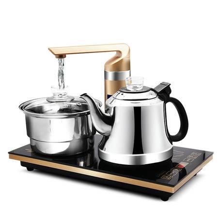 生活日记QY-CB08自动上水壶电水壶不锈钢保温煮茶器烧水壶1