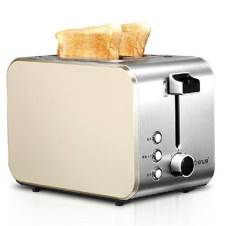 Donlim/东菱DL-8117多士炉2片烤面包机家用 全自动全不锈钢早餐机