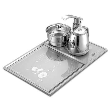 Yoice/优益 YC-115自动上水电热水壶不锈钢电茶壶带茶盘烧水壶