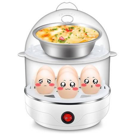 优益Y-ZDQ1双层多功能家电礼品煮蛋器 不锈钢蒸蛋器煮蛋机