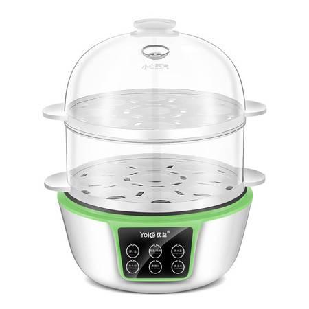 优益煮蛋器 蒸蛋机早餐机自动断电 双层 迷你鸡蛋杯蒸蛋羹煎蛋器
