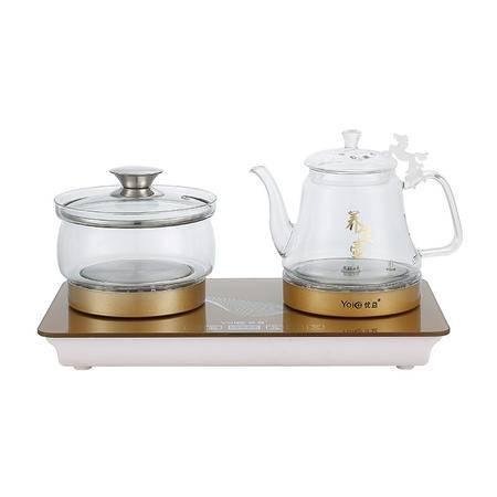 Yoice/优益 YC118 壶底自动上水壶玻璃养生壶水晶电热壶