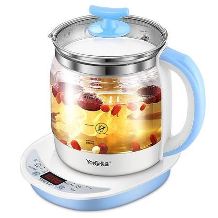 优益全自动加厚玻璃多功能养生壶电热烧水壶花茶壳黑煮茶器