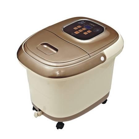 朗悦LY-809洗脚盆自动滚轮按摩加热足浴盆电动泡脚盆足浴器