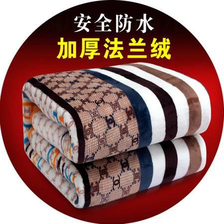 电热毯双人双控无极调温法兰绒三人2米加厚加大电褥子无辐射防水