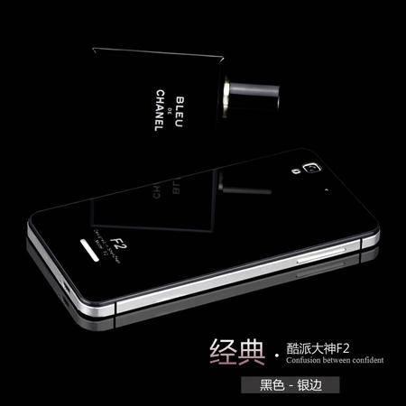 酷派大神f2手机壳 大神f2手机套 F2金属钢化玻璃后盖 B