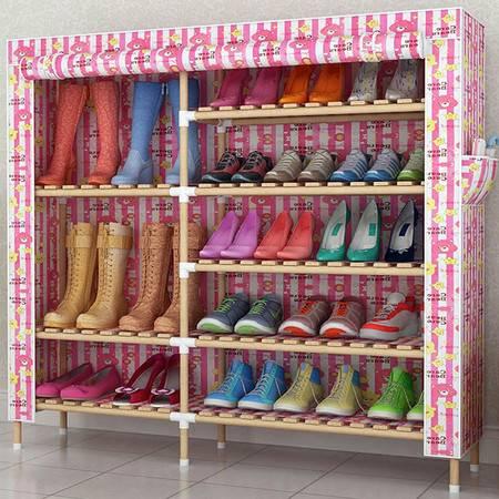 防尘多层实木鞋柜