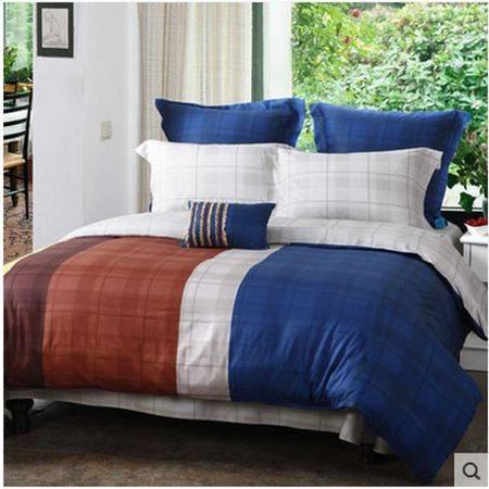 梦洁家纺 纯棉印花四件套床上用品亲肤舒适 宇航