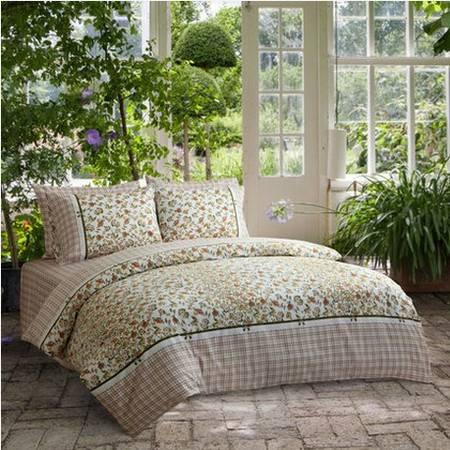 梦洁家纺 纯棉印花四件套-艾薇花园 经典印花