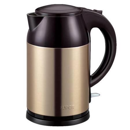 SUPOR/苏泊尔SWF18S09A电热水壶食品级304不锈钢烧水壶双层防烫大容量1.8L