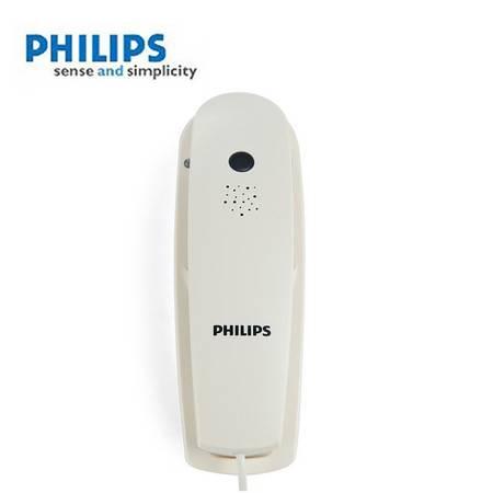 飞利浦(PHILIPS) TD2801 挂壁/壁挂式电话机 酒店/商用电话机(白色)