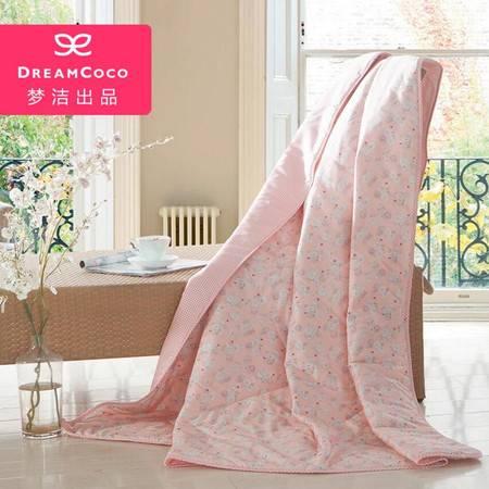 梦洁家纺出品DreamCoco夏季薄被新品空调被双人 康沃尔纯棉轻爽被 1.5米