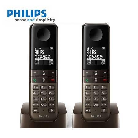 飞利浦(PHILIPS)DCTG450 DUO 数字无绳电话机套装 中文菜单/中文显示/免提通话