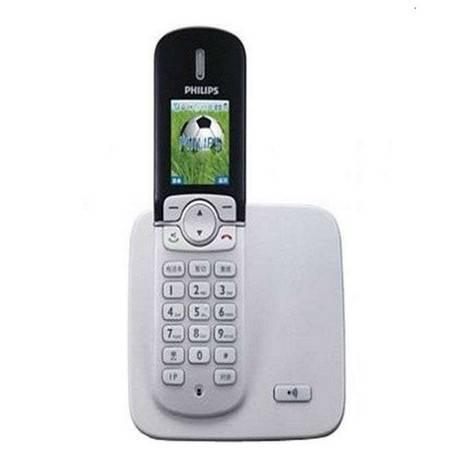 飞利浦(PHILIPS)DCTG570 高档彩色屏幕数字无绳电话 白色