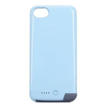 米力 苹果iPhone5s背夹电池iPhone5 SE 超薄背夹充电宝 浅蓝色