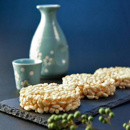 【蒲议】300克*2袋青稞米饼芝麻味/花生味爆米花 办公室零食膨化食品