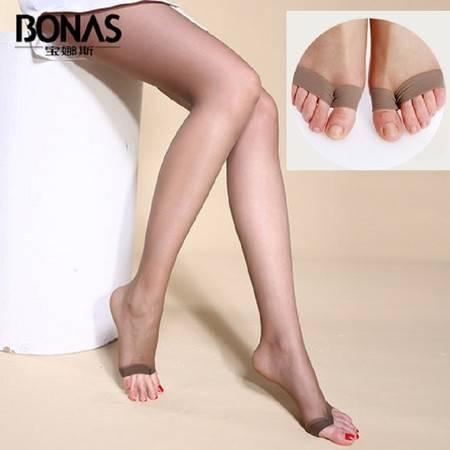 宝娜斯/BONAS丝袜T裆防勾丝鱼嘴 连裤袜丝袜女士袜子长筒袜